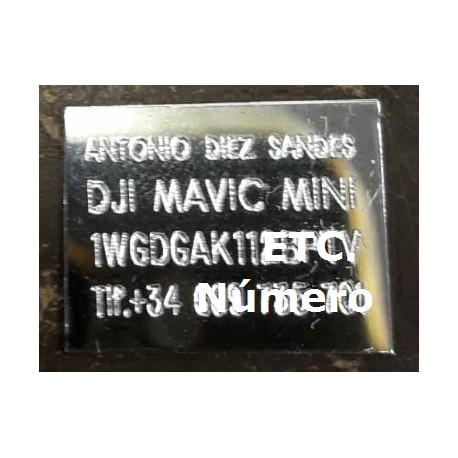 Drone Identification Plate
