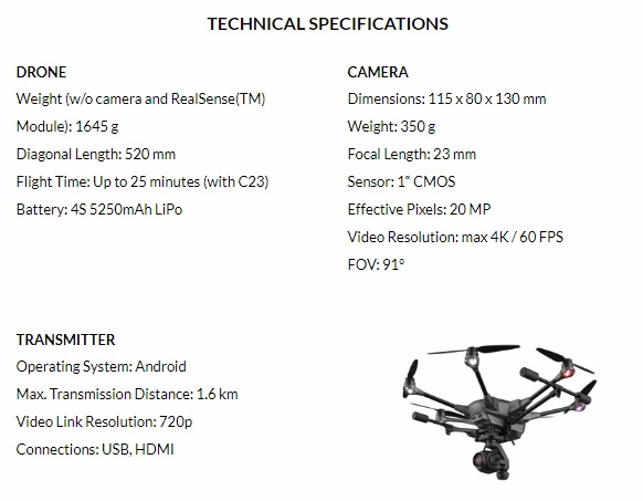 Caracteristicas Typhoon H Plus