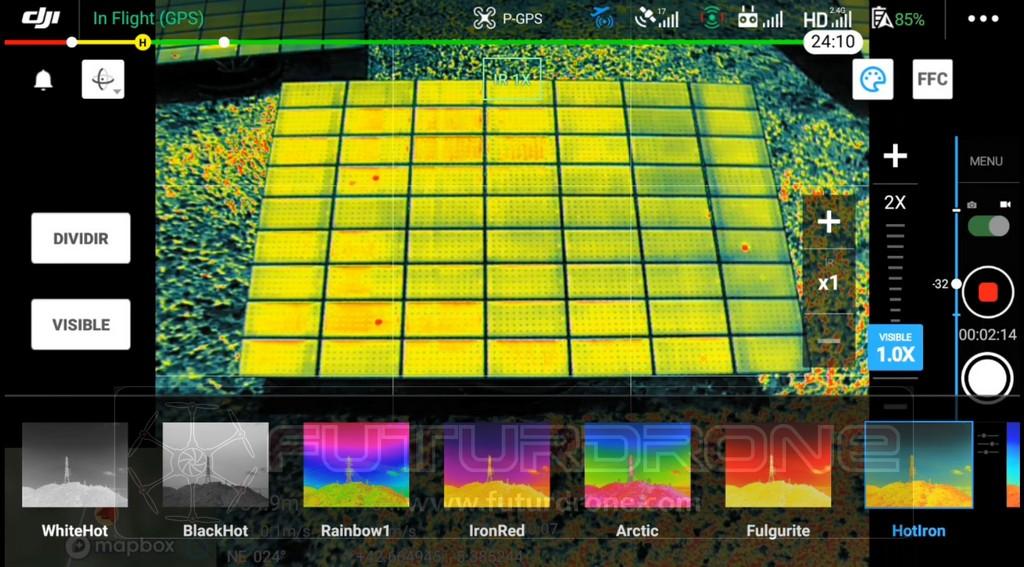DJI Mavic 2 Enterprise Advanced imagen térmica
