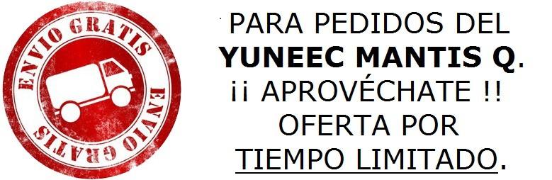 TU YUNEEC MANTIS Q AHORA CON PORTES GRATIS